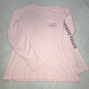 Vineyard Vines Pink Long-Sleeve Whale Print Tee!
